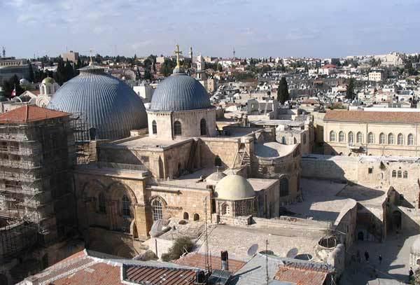 Biserica Sfantului Mormant - vedere de sus