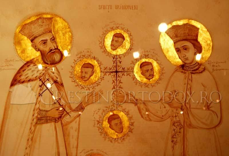 Sfintii Brancoveni - tatal, mama si fiii