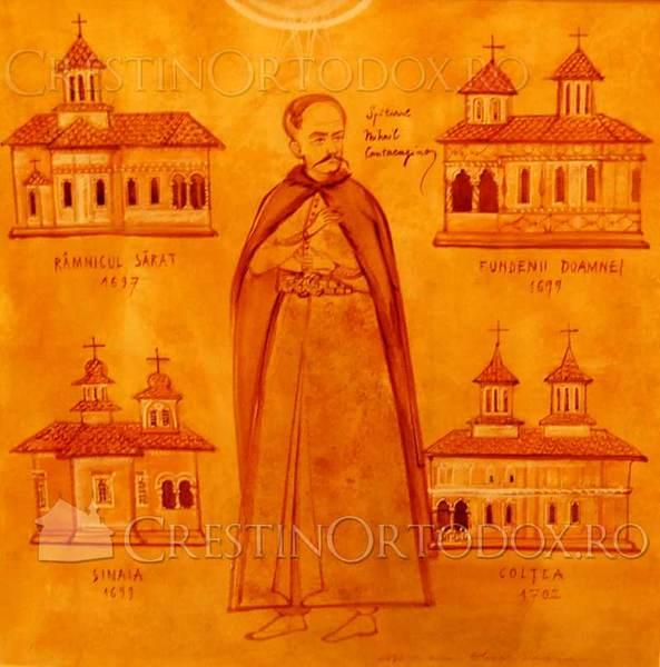 Spatarul Mihail Cantacuzino - Ctitoriile si bisericile sale