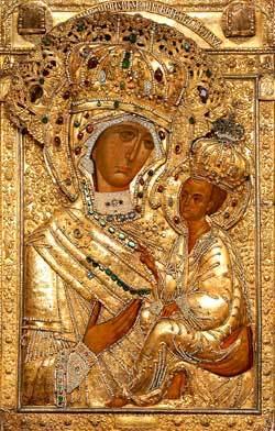Icoana Maicii Domnului de la Manastirea Tikhvin