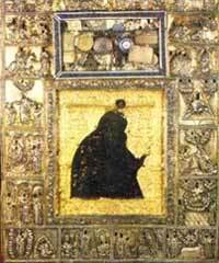Icoana Imnului Acatist - Maica Domnului de la Manastirea Dionisiu
