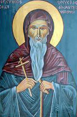Sfantul Onufrie de la Manastirea Sihastria Voronei