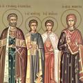 Sfantul Eustatie si sotia sa, Teopista, cu cei doi fii: Agapie si Teopist