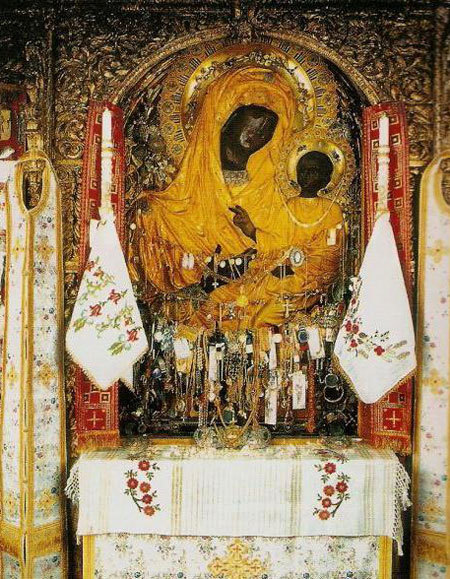 Manastirea Dochiariu - Icoana Maicii Domnului
