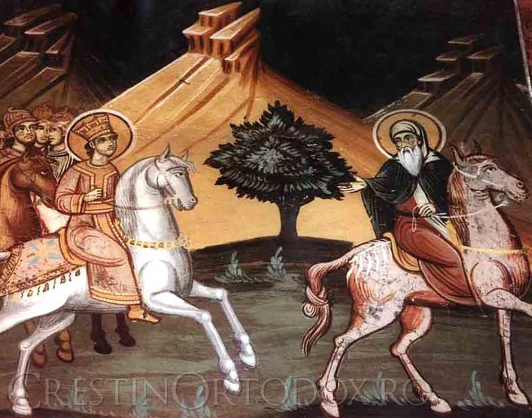 Manastirea Hilandar - Ctitorii in Fresca
