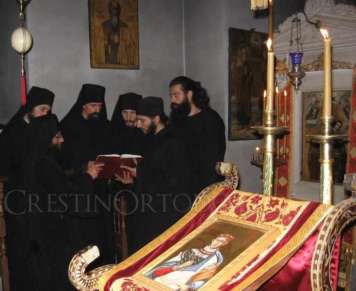 Schitul Lacu din Athos - Priveghere cu Calugari