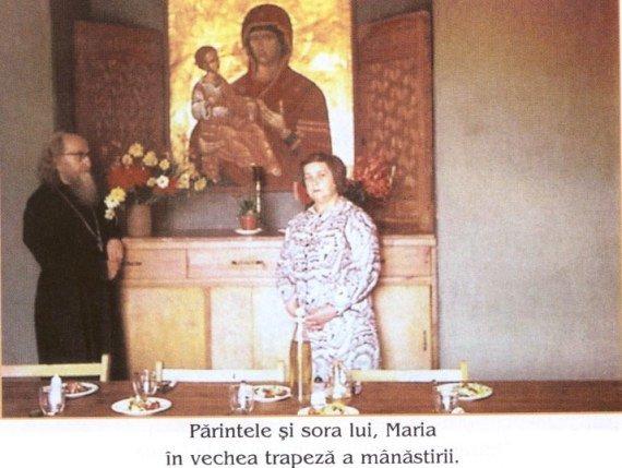 Parintele Sofronie Zaharov impreuna cu sora sa