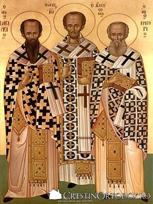 Sfintii Trei Ierarhi - aparatori ai dreptei credinte