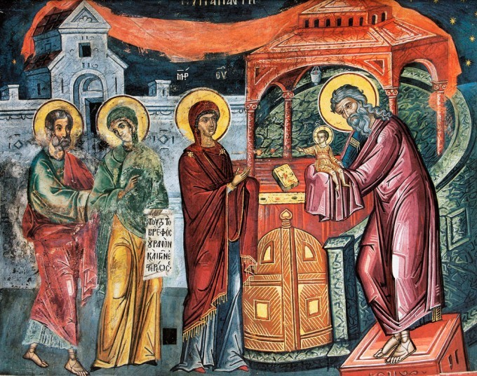 Intalnirea lui Hristos cu Simeon, implinirea unei proorocii