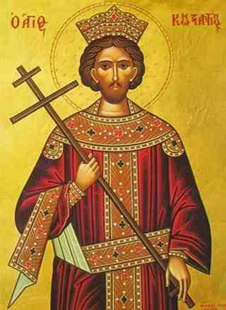 Chipul Sfantului Imparat Constantin cel Mare, in imnografie
