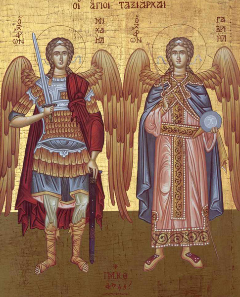 Sfintii Arhangheli Mihail si Gavriil in iconografie