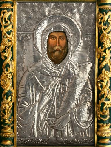 Icoana facatoare de minuni a Sfantului Antonie cel Mare de la Biserica Domneasca