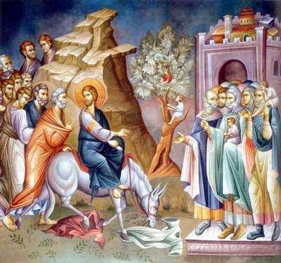 Duminica Floriilor - Intrarea Domnului in Ierusalim