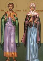 Sfintii Mucenici Areta, Valentin si Sevastiana