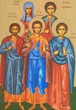Sfintii Mucenici Marcian si Martirie; Sfanta Tavita; Sfantul Mucenic Valerian