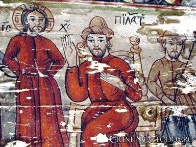 Biserica de lemn din Borza - Judecarea lui Iisus la Pilat