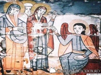 Biserica de lemn din Cuci - Femeile Mironosite la Mormant