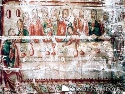 Biserica de lemn din Dobricu Lapusului - Cina cea de Taina