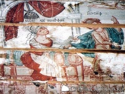 Biserica de lemn din Ortata - Iosif si sotia lui Putifar