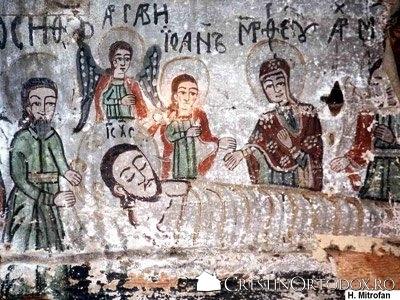Biserica de lemn din Runcu Salvei - Punerea lui Iisus in Mormant