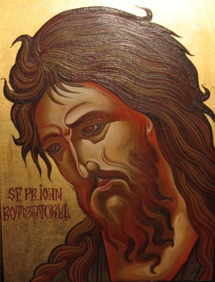 Sfantul Ioan Botezatorul propovaduieste in pustiu