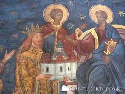 Manastirea Voronet - Sfantul Stefan cel Mare (tablou votiv)