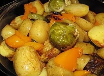 Cartofi cu ardei la cuptor