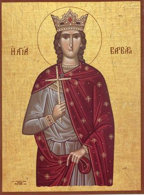 Pomenirea Sfintei Mare Mucenite Varvara