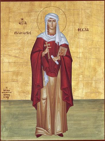 Viata si patimirea Sfintei Marii Mucenice Tecla