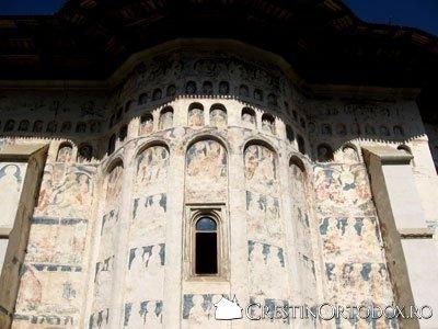 Manastirea Probota - Arcade in absida laterala