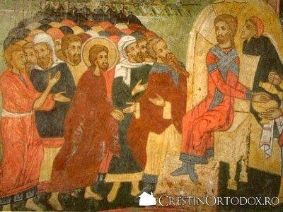 Manastirea Arnota - Hristos in fata lui Pilat