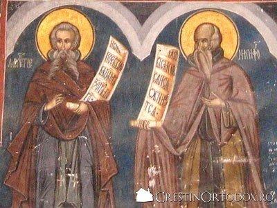 Manastirea Humor - Sfantul Meletie si Sfantul Nichifor