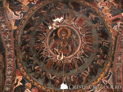 Manastirea Humor - Maica Domnului (detaliu din Bolta)