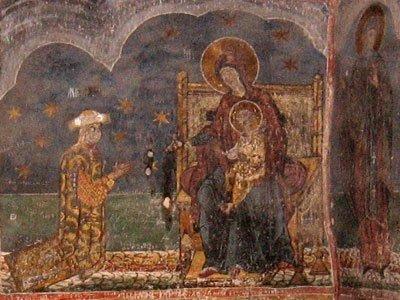 Manastirea Humor - Ctitori (pictura din Gropnita)
