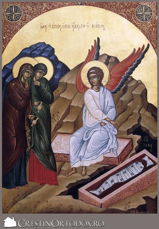 Ingerul vestind femeilor mironosite Invierea lui Hristos