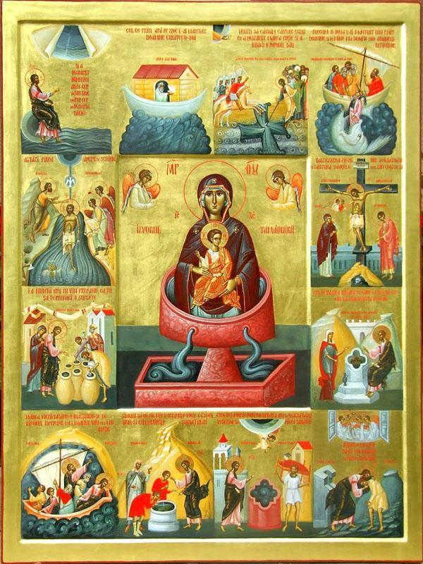 Izvorul Tamaduirii in iconografie