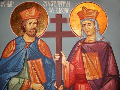 Sfintii Imparati Constantin si Elena - fresca
