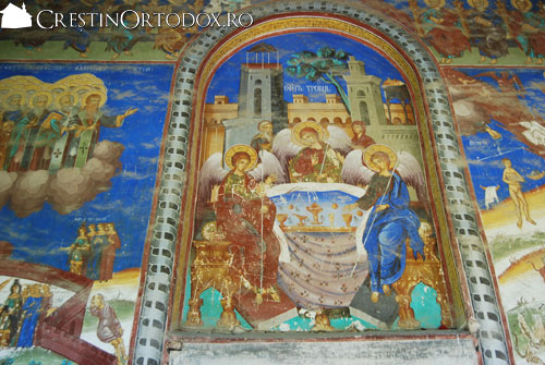 Manastirea Valea Manastirii - Fresca Sfanta Treime