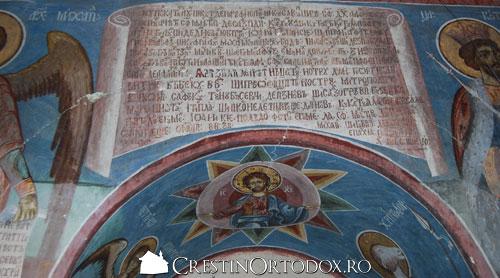 Manastirea Valea Manastirii - Pisania