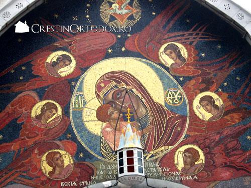 Lavra Poceaev - Mozaicul cu Maica Domnului