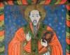 Sfantul Haralambie in pictura populara pe sticla