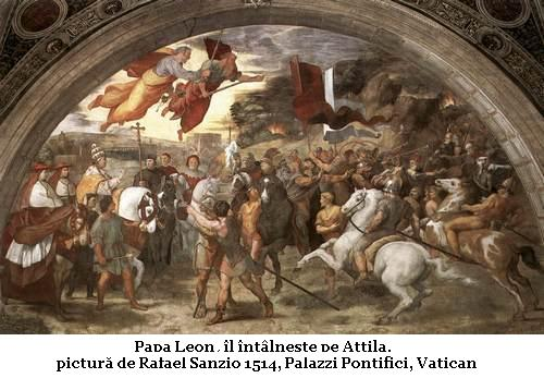 Intalnirea dintre Papa Leon I si Attila