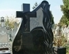Monument funerar din granit negru