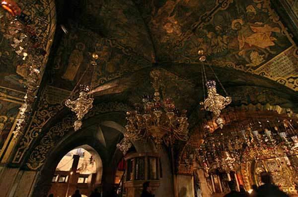 Biserica Sfantului Mormant - Fresca pe Golgota
