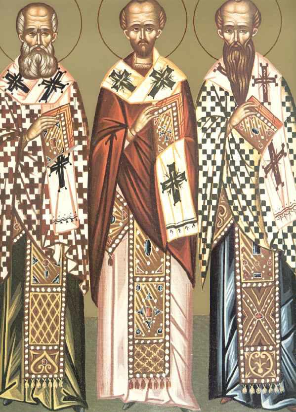Sfintii Trei Ierarhi: Vasile, Grigorie, Ioan